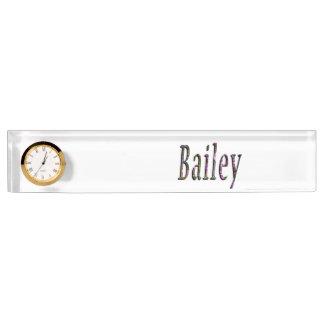 Floral Bailey Name Logo, Name Plate