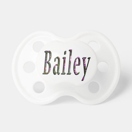 Floral Bailey Name Logo, Pacifier