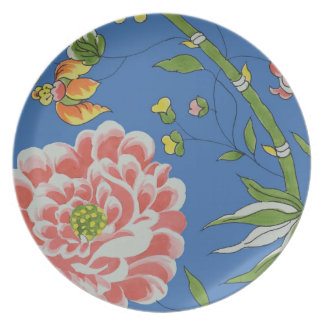 Floral Bamboo Museum LA Melamine Plate