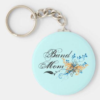 Floral Band Mom Keychain