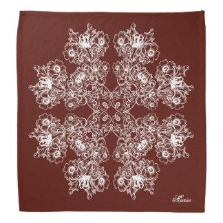 Floral baroque style maroon  pattern. bandana