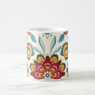 Floral Batik Pattern Coffee Mug
