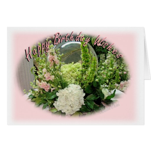 Floral Bday Wishes-customize it Card