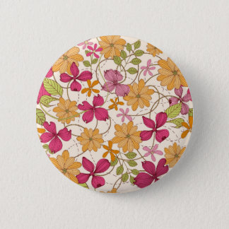 Floral beauty 2 inch round button