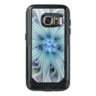 Floral Beauty Abstract Modern Blue Pastel Flower OtterBox Samsung Galaxy S7 Case