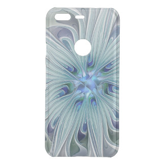 Floral Beauty Abstract Modern Blue Pastel Flower Uncommon Google Pixel Case