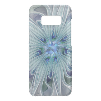 Floral Beauty Abstract Modern Blue Pastel Flower Uncommon Samsung Galaxy S8 Case