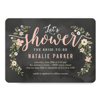 Floral Beauty Editable Colour Bridal Shower Invite