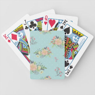Floral Beauty seamless pattern Bicycle Playing Cards