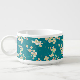 Floral – Beige and Teal Bowl