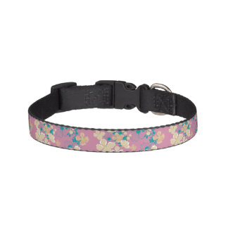 Floral – Beige and Teal Pet Collar