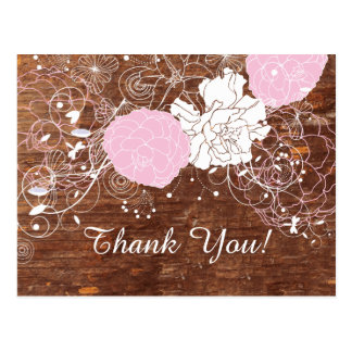FLORAL, BIRTHDAY THANK YOU CARD