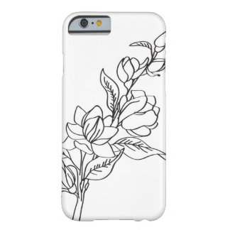 Floral black and white iPhone Case