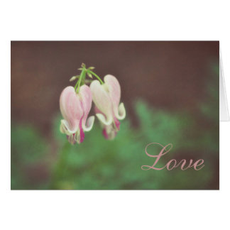 Floral-Bleeding Heart Card