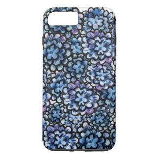 Floral bleu coque iPhone 7 plus