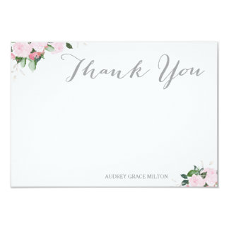 "Floral Blooms Thank You Card 3.5"" X 5"" Invitation Card"