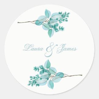Floral Blossom Wedding Sticker