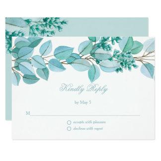 Floral Blossoms Wedding RSVP Card