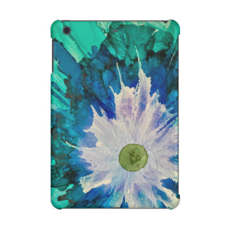 Floral blue abstract  iPad mini cover