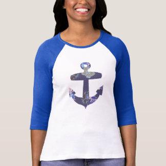 Floral blue anchor shirt