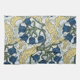 Floral Blue Flowers Lily of the Valley Kitchen Towel