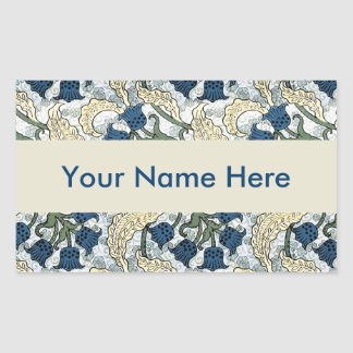 Floral Blue Flowers Lily of the Valley Sticker
