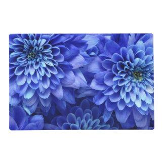Floral Blue Laminated Place Mat