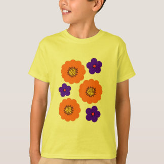 Floral Blue Orange tshirts designs