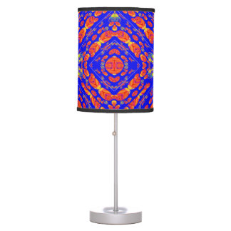 Floral Blue Psychedelic Lamp