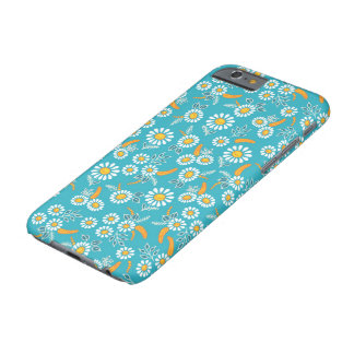 Floral blue, small scale barely there iPhone 6 case