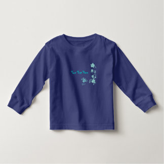 Floral blue t shirt