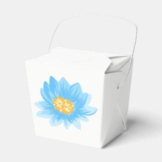 Floral Blue Turquoise Flower Watercolor Favor Box