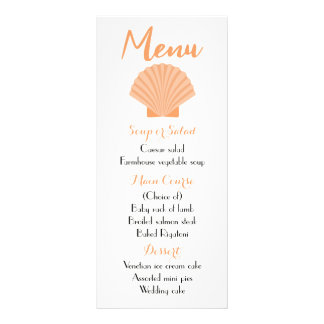 Floral Blue Turquoise Menu Watercolor Flower