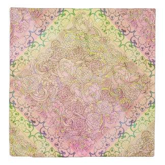 Floral Boho Chic Duvet Cover