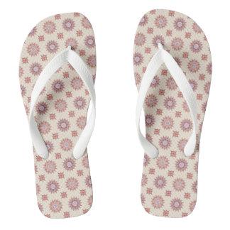 floral boho pattern flip flops