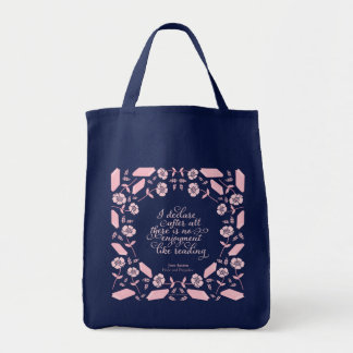 Floral Bookish Quote Jane Austen Pride & Prejudice