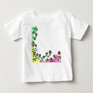 floral border Cartoon flower doodle Baby T-Shirt
