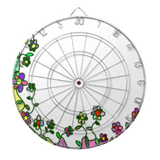 floral border Cartoon flower doodle Dartboard