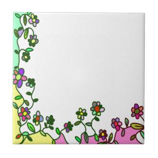 floral border Cartoon flower doodle Tile
