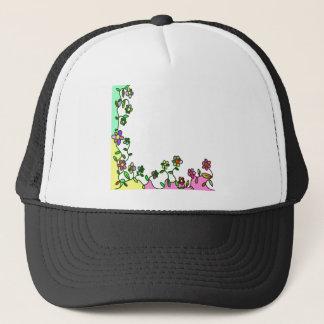 floral border Cartoon flower doodle Trucker Hat