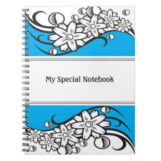 Floral Border Planner Notebooks Blue