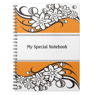 Floral Border Planner Notebooks Orange