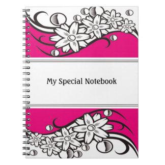 Floral Border Planner Notebooks Pink