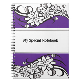 Floral Border Planner Notebooks Purple