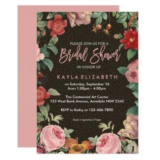 Floral botanical garden bridal shower card