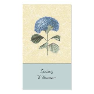 Floral botanique d hortensia bleu vintage modèles de cartes de visite