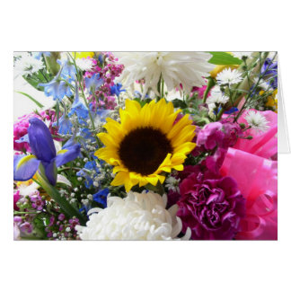 Floral bouquet 2 card