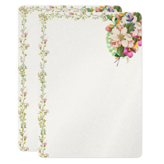 Floral Bouquet Blank Invitation