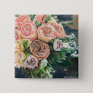 Floral Bouquet Button