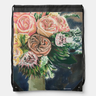 Floral Bouquet Drawstring Backpack